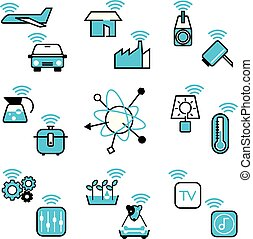 Internet of Things icon vector design illustration set