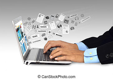 Internet on Laptop