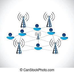 internet online network connection illustration