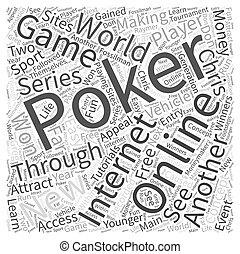 internet online poker Word Cloud Concept