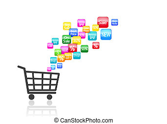 Internet Online Shopping Concept - Internet and Online...