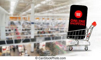 Internet online shopping concept.