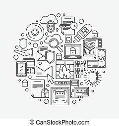 Internet or computer security illustration