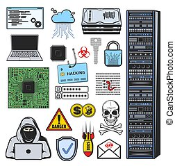 Internet phishing, hacking, theft and cyber crime