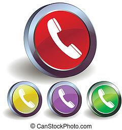 Internet phone button icon