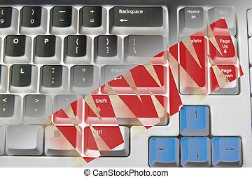 internet, pojęcie, z, klawiatura