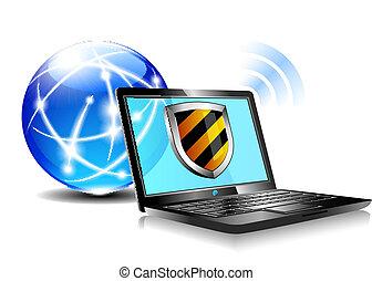 internet, proteção, escudo, antiviru