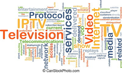 Internet protocol television IPTV background concept -...