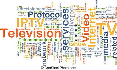 Internet protocol television IPTV background concept -...