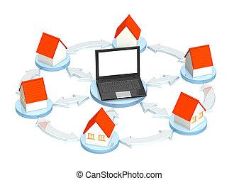 Conceptual 3d image - internet provider