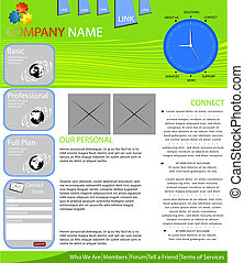 Internet provider web page layout