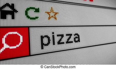 internet, recherche, pizza