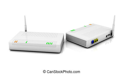 internet, router