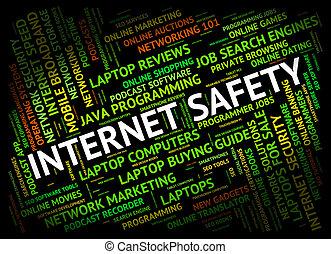 Internet Safety Indicating World Wide Web And Beware Hazard