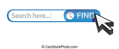 internet search bar illustration design over white