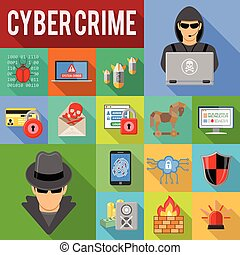 cyber crime concept - Internet Security and cyber crime...