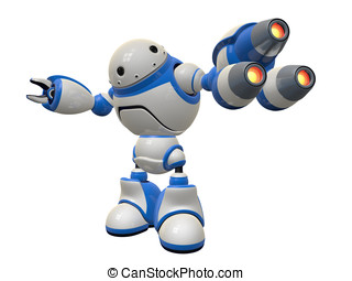 Internet Security Bot, Plasma Guns Ready to Fire - Fictional...
