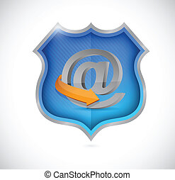 internet security shield illustration design