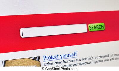 Internet security - fictional search engine