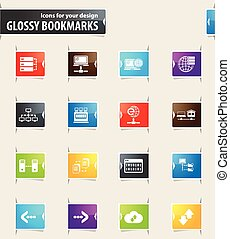 Internet, Server and Network Bookmark Icons