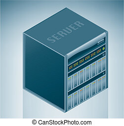 Internet Server Unit is a part of the Isometric 3D Computer Hardware Icons Set