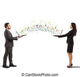 Internet sharing concept