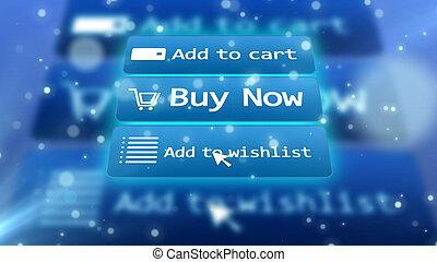 Internet shop illustration with commands