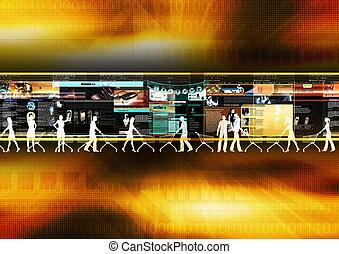 Internet Shopping 02 - Computer graphic conceptual...
