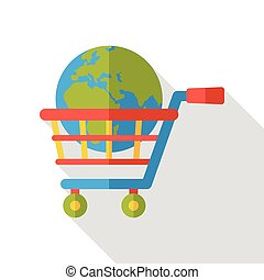 internet shopping cart icon