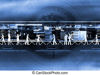 Internet Shopping - Computer graphic illustration about...