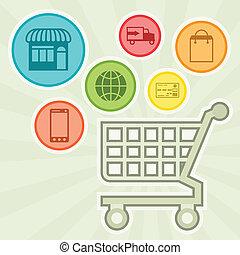 Internet shopping concept illustration.