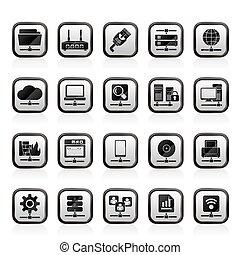 internet, sieć, ikony