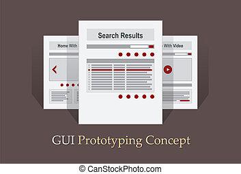 Internet Site Map Navigation Structure Prototype vector