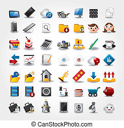 internet, &, site web, icônes, icônes, icônes, ensemble