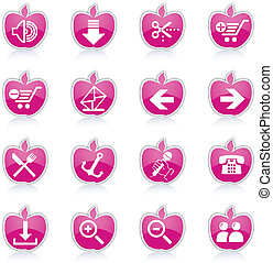 internet, &, site web, icônes, icônes