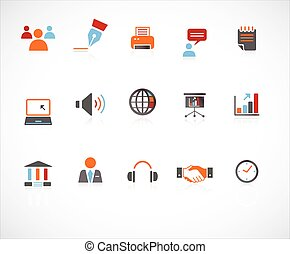 internet, &, site web, icônes