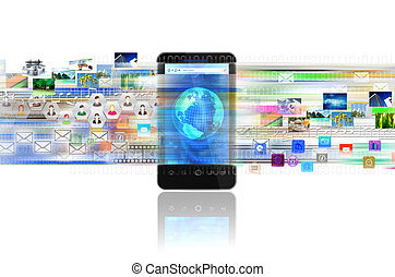Internet Smartphone - A concept of sharing digital content,...