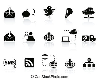 Internet social communications icon set
