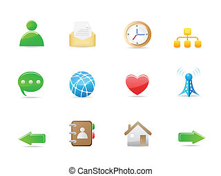 internet social icon set