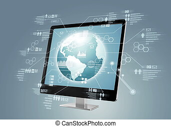 Internet Social Media Concept