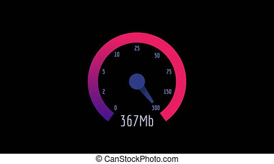 Internet Speedometer Speed Test Download and Upload 1000 Mb....