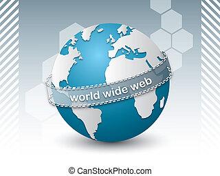 internet, spojovací, síť, národ