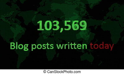 Internet statistics number of blogs written today