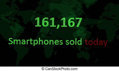 Internet stats smart phones  sold today