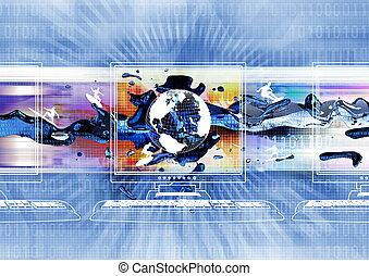 internet, surfer