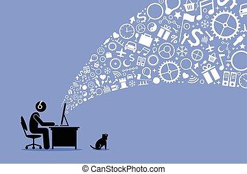 internet., surfing