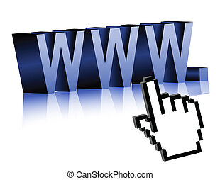 Internet Technology Concept www and cursor. Vector File...