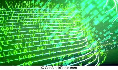Internet technology data transfer concept.