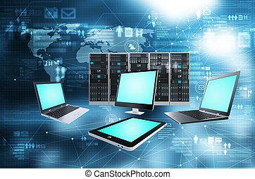 internet, tecnologia informatica, concetto