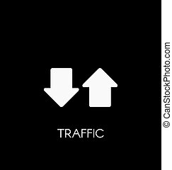 Internet traffic icon vector illustration